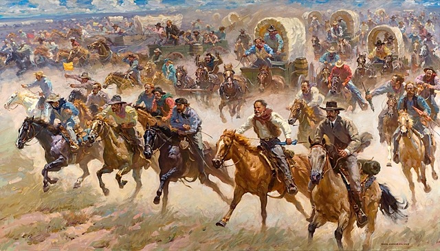 The land Rush of Oklahoma