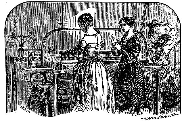 Lowell, Massachusetts Textile Mill Employs Women