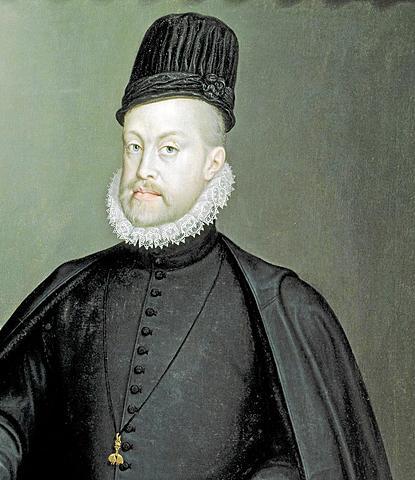 Felipe II coronado rey de España y sus posesiones Europeas y de Ultramar