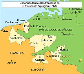 Primera Guerra contra Francia. Paz de Aquisgrán. Se reconoce la independencia de Portugal