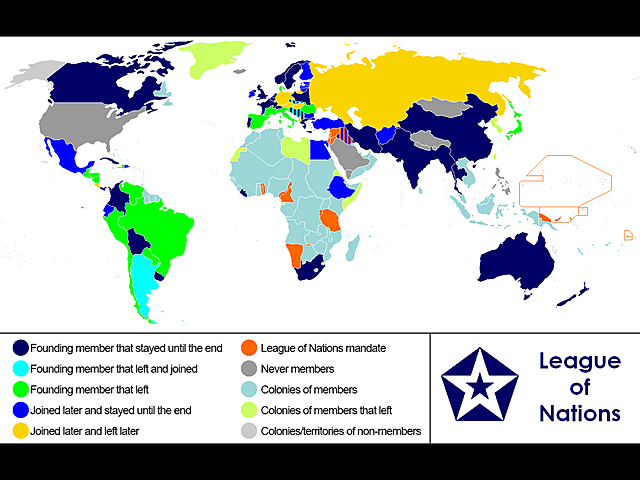 League of Nations joining of the US is denied in the US Senate