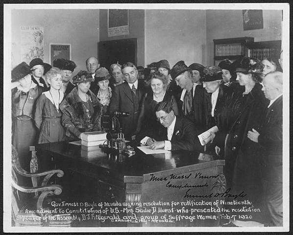 Nineteenth Amendment to the Constitution is ratified