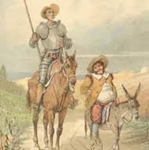 Sancho panza se une como escudero de don quijote
