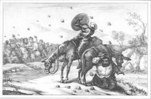 Don quijote libero a un grupo de presos, y luego ello se volvieron en contra sulla