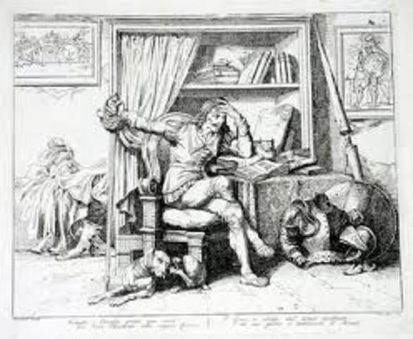 Don Quijote le escribe a su amada Dulcinea