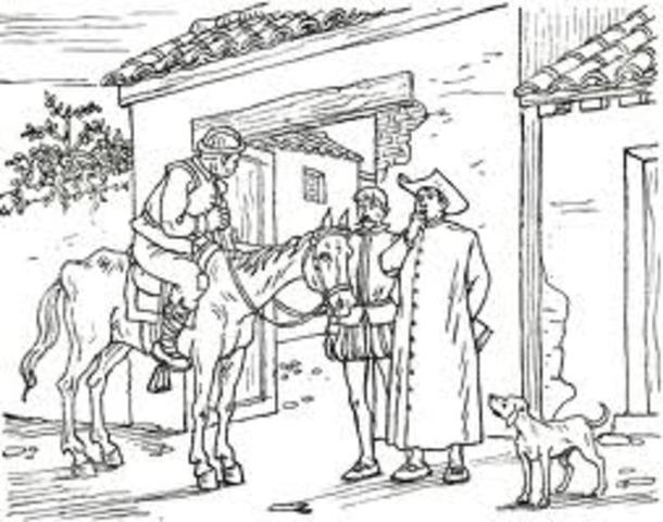 en el viaje de sancho, para llevarle la carta a dulcinea es intervenido por el cura y el barbero