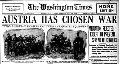 Declaração de guerra da Áustria-Hungria à Sérvia