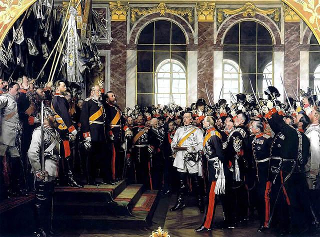 La proclamación del II Reich