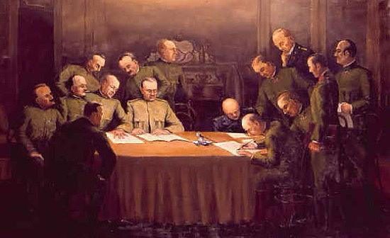 Império Austro-húngaro assina um Armistício