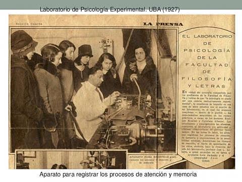 Primer laboratorio de psicología experimental