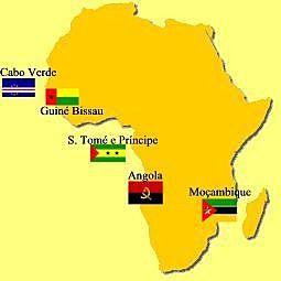 Los portugueses llegaron a las costas del África bantú, a Santo Tomé.