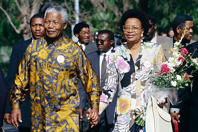 MANDELA WITH EIGHTY YEARS OLD