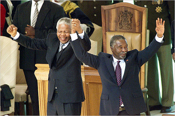 THE SUCCESSOR OF THE POSITION OF PRESIDENT OF MANDELA