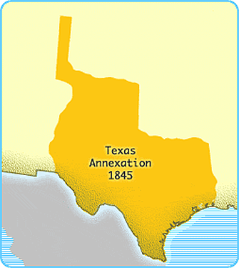 Annexation is officially approved and Constitution is drafted