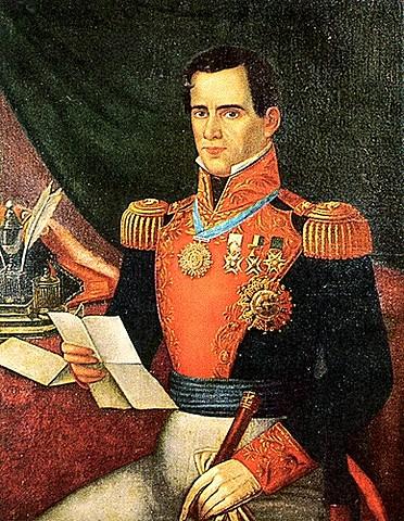 General Antonio Lopez de Santa Anna and his army arrives at San Antonio