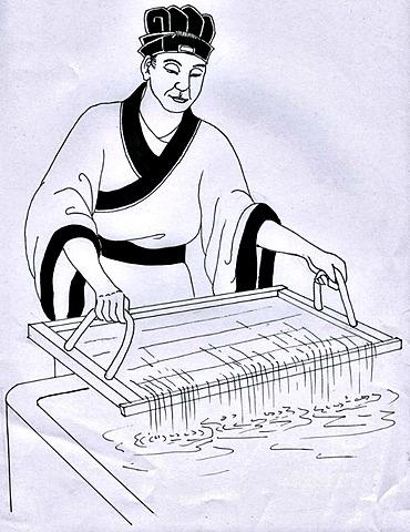 Cai Lun inventa el papel en China.