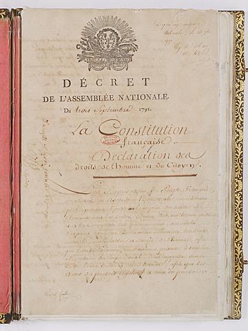 La Constitució de 1791