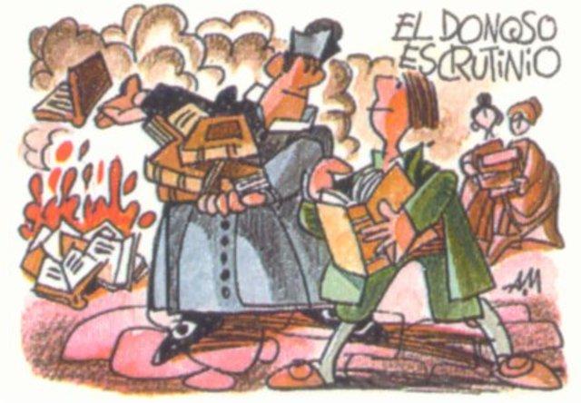 La quema de los libros del Quijote