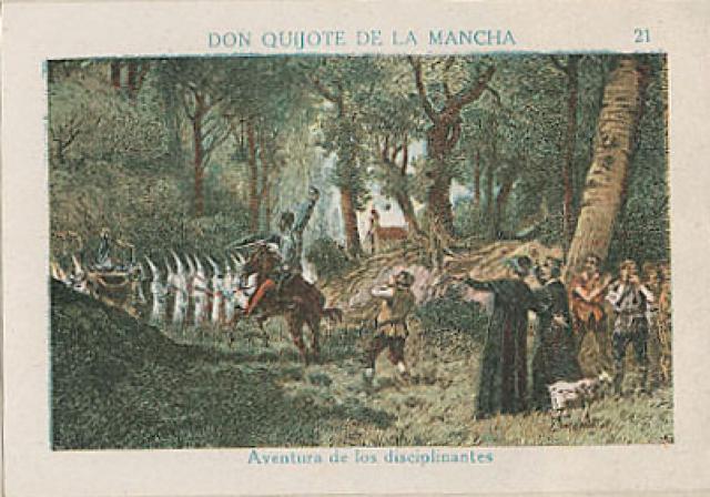 El Quijote ataca a los disciplinantes