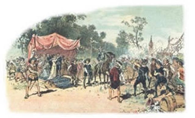 Don Quijote y Sancho Panza en las bodas de Camacho