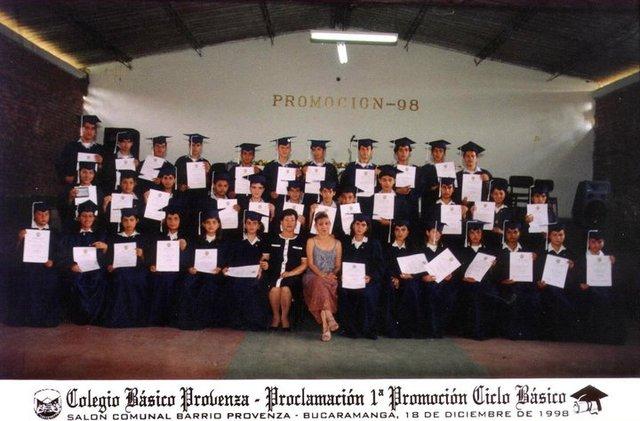 Primera graduación parte basica.