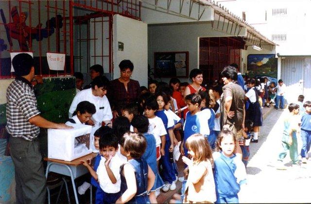 Primeros estudiantes de la Institución.