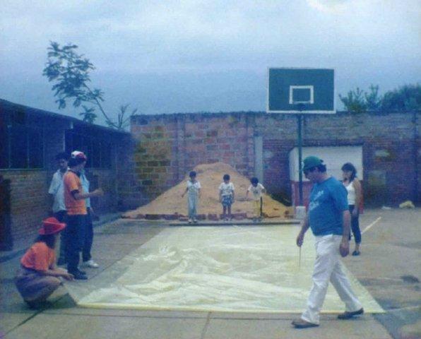 Nuestra primera zona recreativa de el colegio.