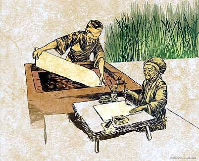 Invención del papel en China: Dinastia Han.