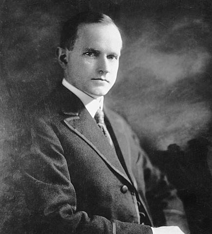 President Calvin Coolidge becomes President