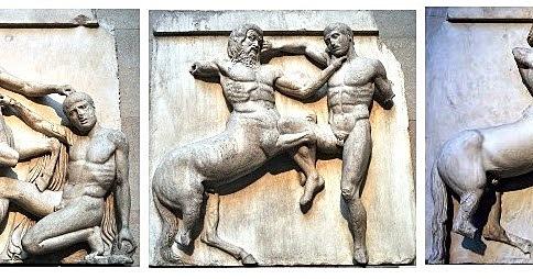 Metopas ( Fidias). Escultura.