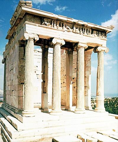 Templo de Atenea Niké ( Calícrates). Arquitectura.