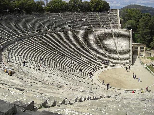 Teatro de Epidauro (Polícleto). Arquitectura.