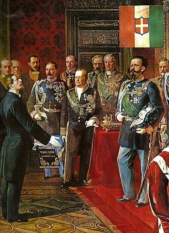 A Coroação do Novo Rei Italiano