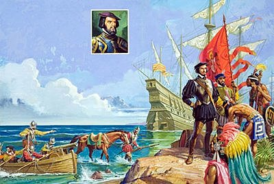 Cortes arrived to Cozumel