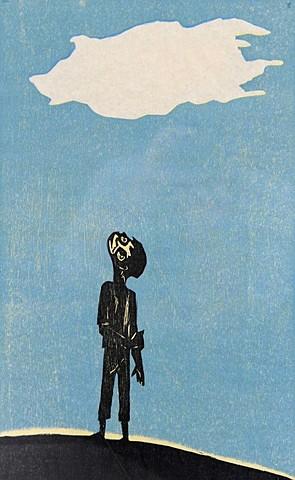 """Francisco Amighetti - Obra """"El Niño y La Nube"""""""