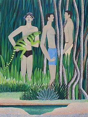 Guillermo Trujillo - Obra Iguana Verde