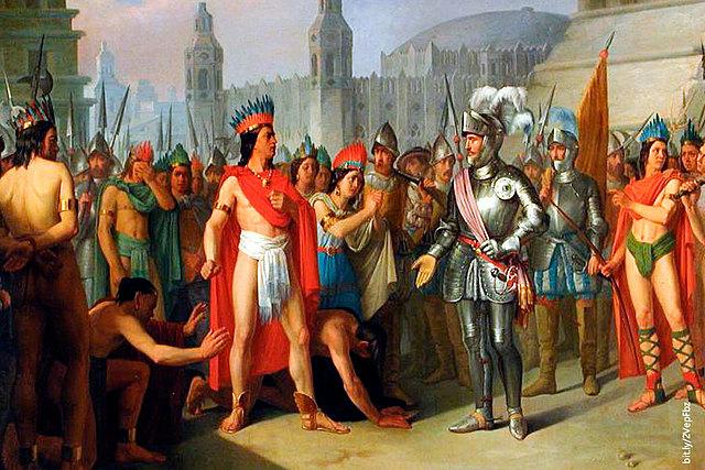 Hernan Cortés arrived to Mexico-Tenochtitlan