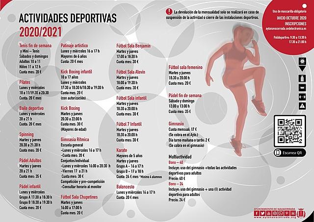 Actividades deportivas 2020/21