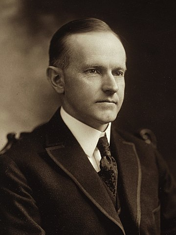 Calvin Coolidge becomes President