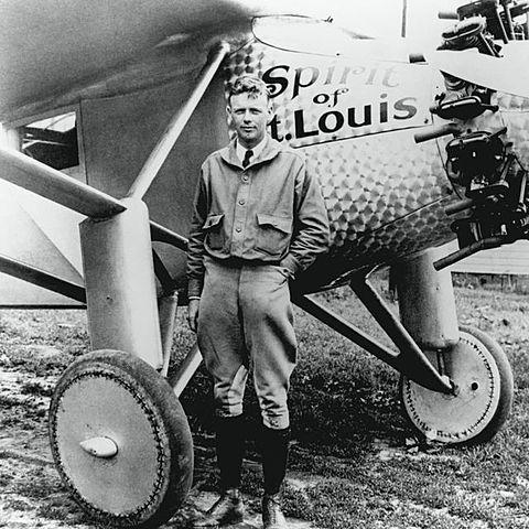 Charles Lindbergh first nonstop transatlantic flight
