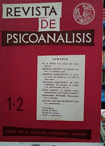 Revista de Psicoanálisis en Argentina