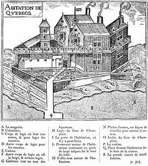 La fondation de Québec   3 juillet 1608