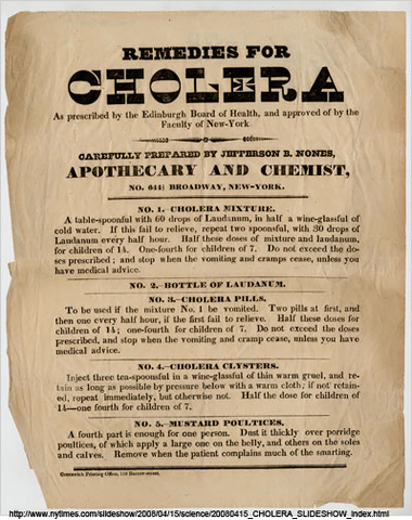 John Snow, a British physician, considered as the 'Father ofepidemiology', performs meticulous studies to show that contaminated waterwas responsible for the epidemic spread of cholera. (1853-54).