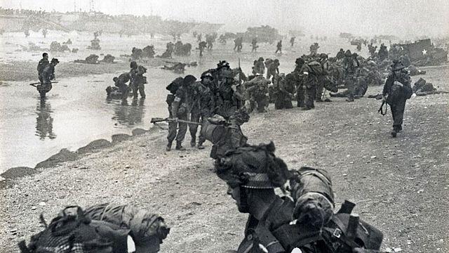 Le débarquement anglo-américain en Normandie.