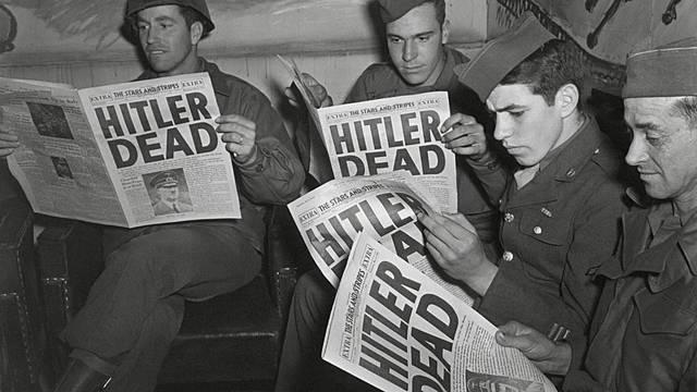 La mort d'Hitler.
