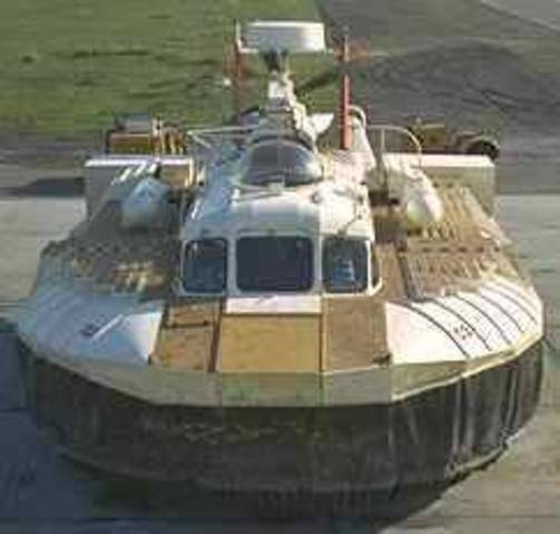 The hovercraft was created.