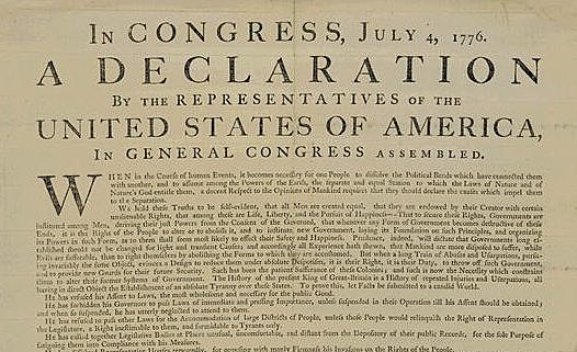 Drafted the Declaration of Independence