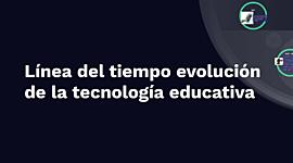 Línea de Tiempo con el tema Evolución histórica de la Tecnología Educativa timeline