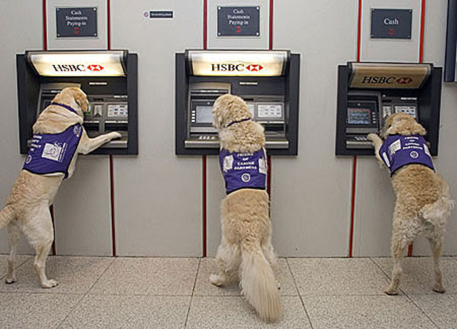 The ATM was invented.