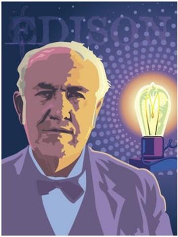 Thomas Alva Edison: desarrollo de la lámpara incandescente